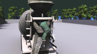 搅拌机安全事故-3D动画演示
