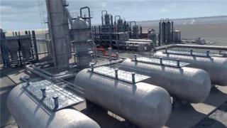 石油化工厂工程演示动画