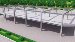 钢结构工程施工动画3D演示