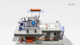 机械原理动画演示-齿轮机一体化工作状态