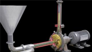 工业机械三维动画-演示齿轮机工作原理