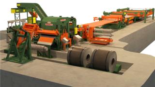 工业铁片切割-生产流程动画