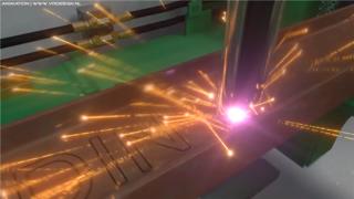 激光雕刻-工业生产流程动画