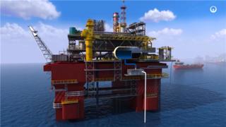 石油化工钻井-平台演示动画