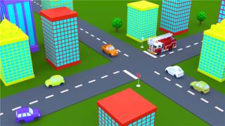 卡通角色动画-演示消防安全
