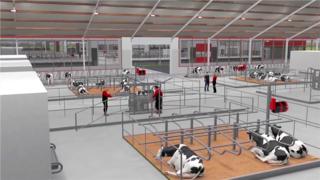 奶牛养殖基地-三维建筑动画