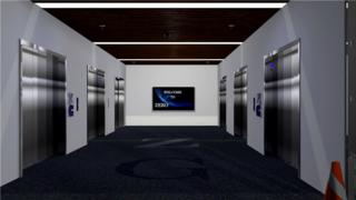 三维建筑漫游动画-电梯空间