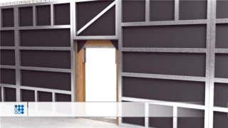 混凝土施工过程-建筑动画