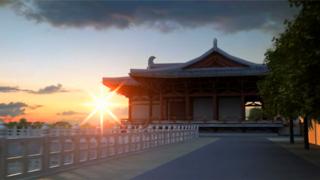 古建筑复原动画-唐山龙泉寺