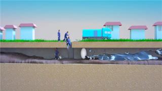 排污管道安全逃生事故动画