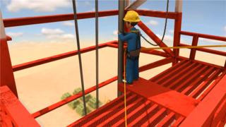 高处作业事故-安全回放动画
