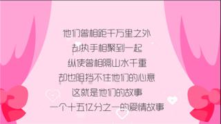 婚礼爱情故事动画-MG风格
